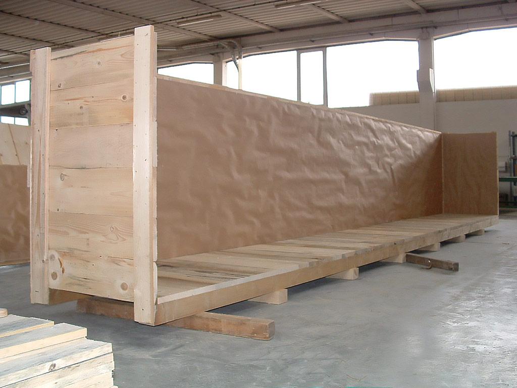imballaggio in legno e spedizione