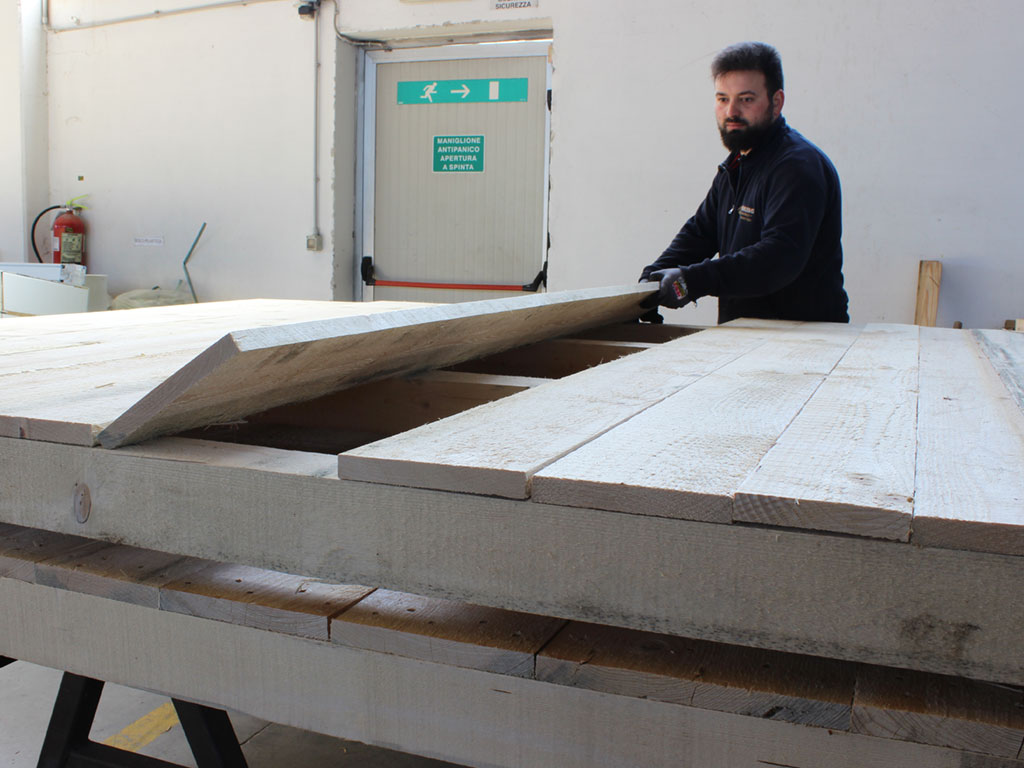 realizzazione su misura bancale in legno