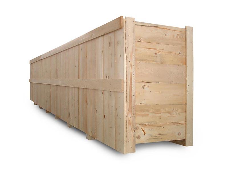 cassa in legno per spedizioni marittime