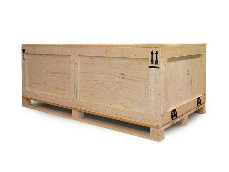 cassa in legno per spedizioni terrestri